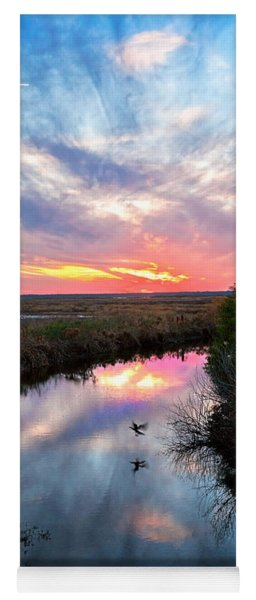Yoga Mat featuring the photograph Sunset Over The Marsh by Christopher Holmes