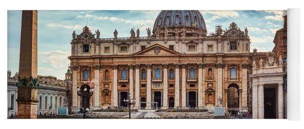 Sunset Over The Papal Basilica Of Saint Peter Yoga Mat