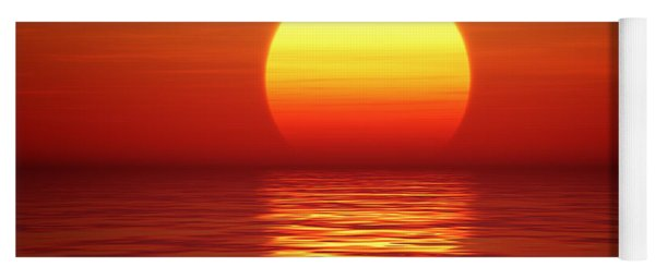 Sunset Over Tranqual Water Yoga Mat
