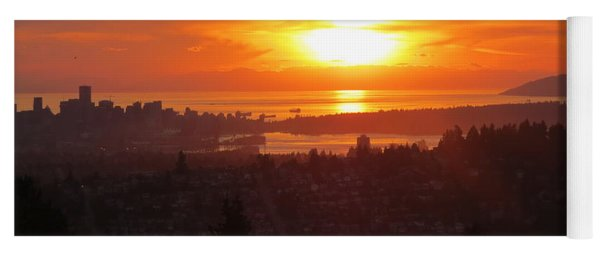 Sunset Over Vancouver Yoga Mat