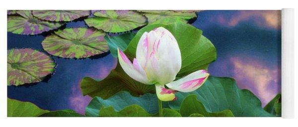 Sunset Pond Lotus Yoga Mat