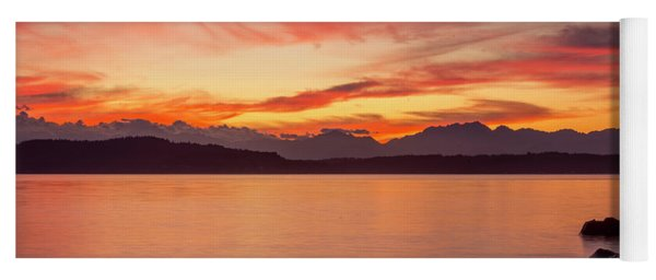 Sunset Puget Sound Yoga Mat