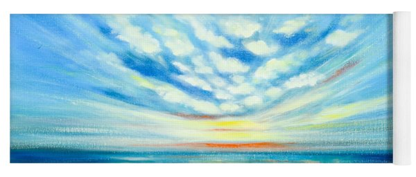 Sunset Quest Blue Yoga Mat