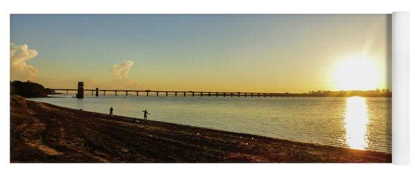 Sunset Reflecting On The Uruguay River Yoga Mat