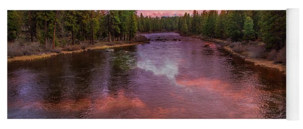 Yoga Mat featuring the photograph Sunset Reflections On The Deschutes River by Lynn Bauer