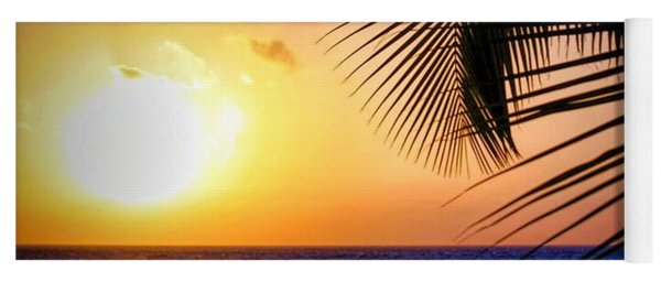 Sunset Salute In Aruba Yoga Mat
