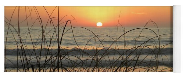 Sunset Sea Grass Yoga Mat