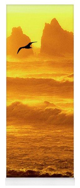 Sunset Sea Stacks Sea Gull Bandon Oregon Yoga Mat