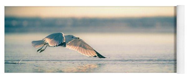Sunset Seagull Takeoffs Yoga Mat
