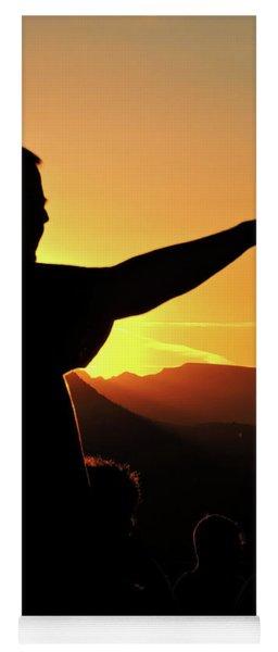 Sunset Silhouette Yoga Mat