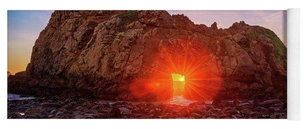Sunset Through  Yoga Mat
