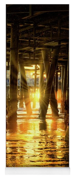 Sunset Through The Pier Yoga Mat