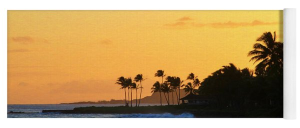 Sunset Time In The Tropics Yoga Mat