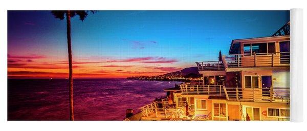 Sunset Twilight At The Laguna Riviera Yoga Mat