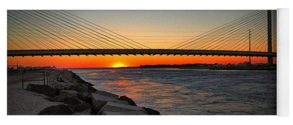 Sunset Under The Indian River Inlet Bridge Yoga Mat