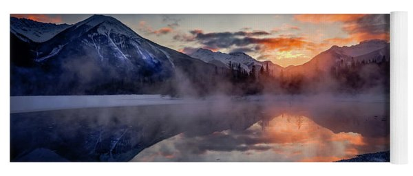 Sunset, Vermilion Lakes Yoga Mat