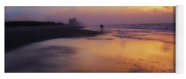 Sunset Walk On Myrtle Beach Yoga Mat