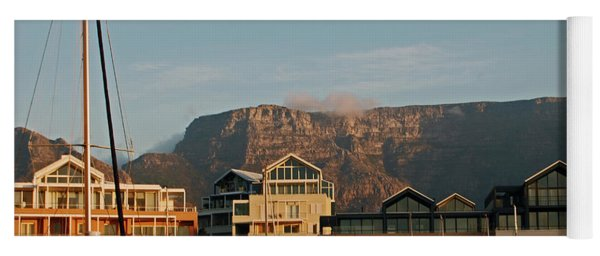 Sunset With A View Of Table Mountain Yoga Mat