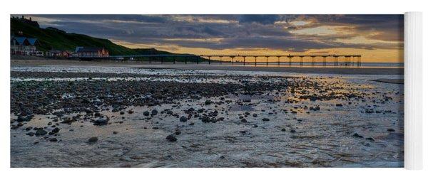 Sunset With Saltburn Pier Yoga Mat