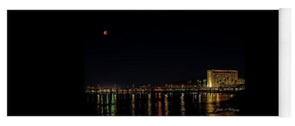 Super Blue Blood Moon Over Ventura, California Pier  Yoga Mat