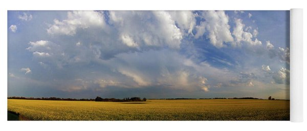 Super Cell Over The Canola Yoga Mat