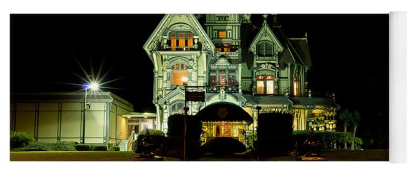 Super Moon Over Carson Mansion Yoga Mat