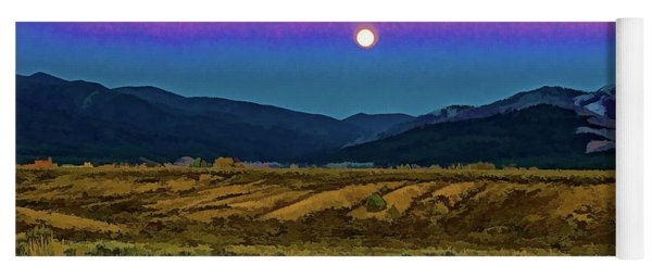 Super Moon Over Taos Yoga Mat