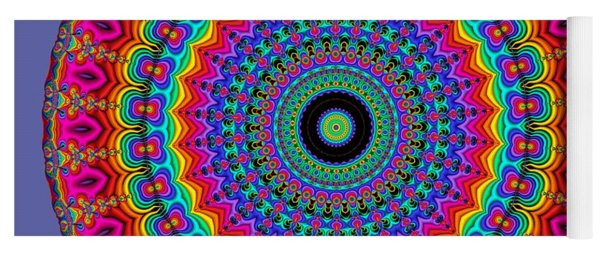 Super Rainbow Mandala Yoga Mat