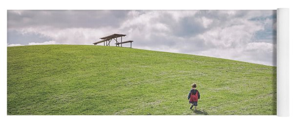 Superman And The Big Hill Yoga Mat