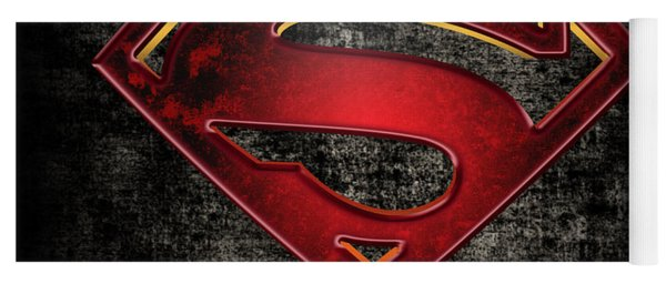 Superman Logo Digital Artwork Yoga Mat