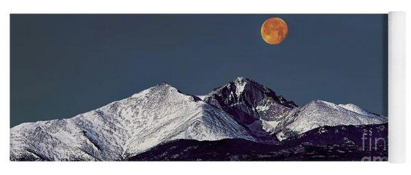 Supermoon Lunar Eclipse Over Longs Peak Yoga Mat