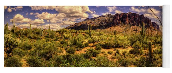 Superstition Mountain And Wilderness Yoga Mat