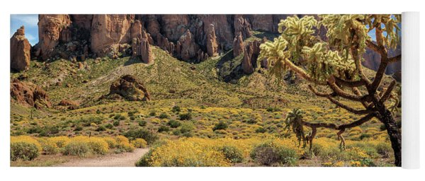 Superstition Mountain Cholla Yoga Mat