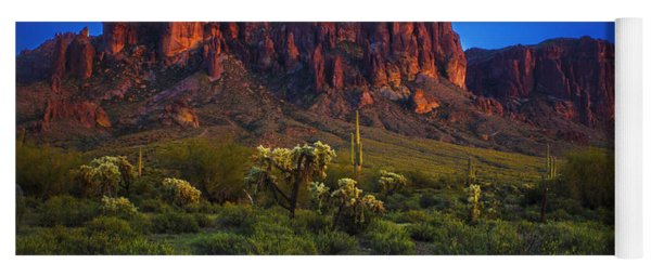 Superstition Mountain Sunset Yoga Mat