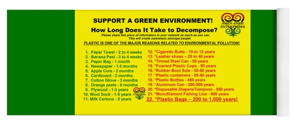 Support A Green Environment A Green Environment Yoga Mat