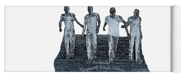 Support Each Other Yoga Mat