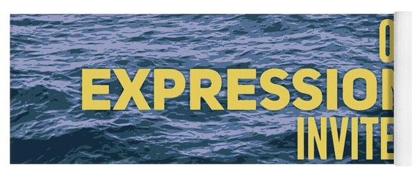 Suppression Of Expression Yoga Mat