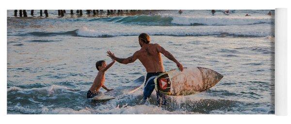 Surfboard Inspirational Yoga Mat