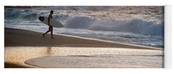 Surfer On Beach Yoga Mat