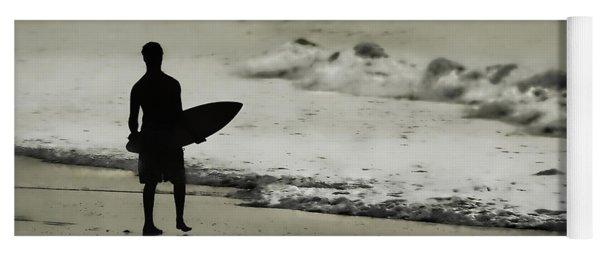 Surfer Silhouette Yoga Mat