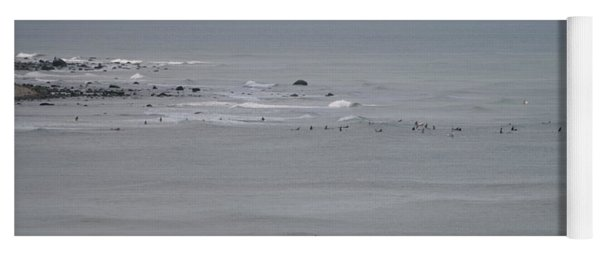 Surfing Ditch Plains Montauk Yoga Mat