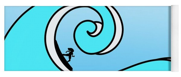 Surfing The Wave Yoga Mat