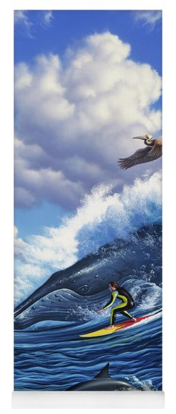 Surf's Up Yoga Mat