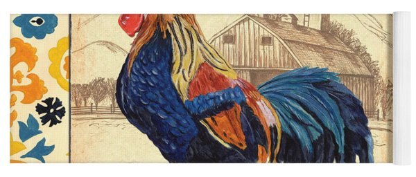 Suzani Rooster 1 Yoga Mat