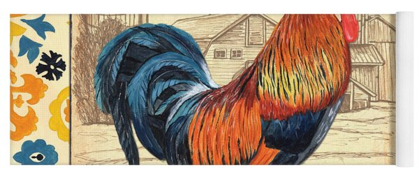 Suzani Rooster 2 Yoga Mat