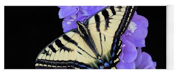 Swallowtail On Purple Flowers Yoga Mat