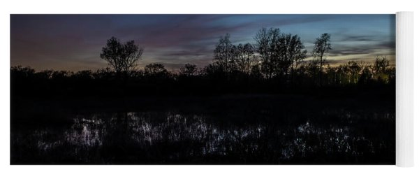 Swamp At Dusk With Moon Yoga Mat