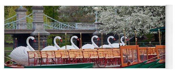 Swan Boat Spring Yoga Mat