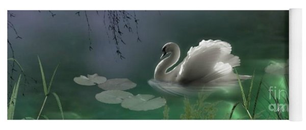 Swan By Moonlight Yoga Mat