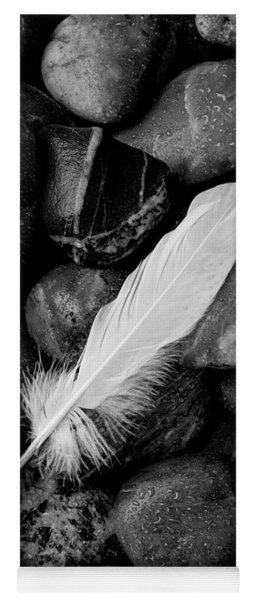 Swan Feather Black And White Yoga Mat